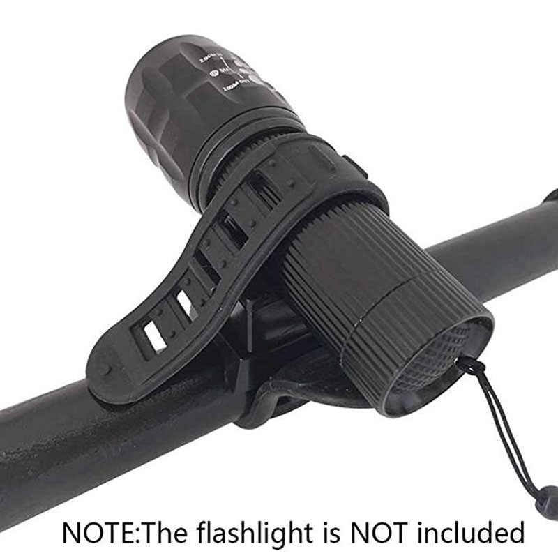 360 Swivel Bike LED Taschenlampe Halterung Flash Taschenlampe Halter Vor Licht Clip Clamp Laterne Fahrrad Zubehör
