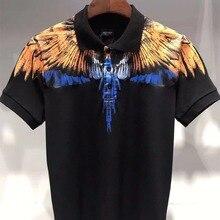 f73318655 18SS R.DIANOND MARCELO BURLON Top 100% Cotton Orange blue Wing Men's  Women's Short