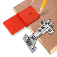 1 шт. шарнирное отверстие руководство по сверлению 35 мм 40 мм Hing установка джиг для дверей для шкафов для петель локатор дыр деревообрабатыва...
