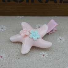 (5 pieces/lot) Starfish Shape Cute Dog Hair Clips Plastic 2.4 inch Length Hair Accessories For Pet NPH-04