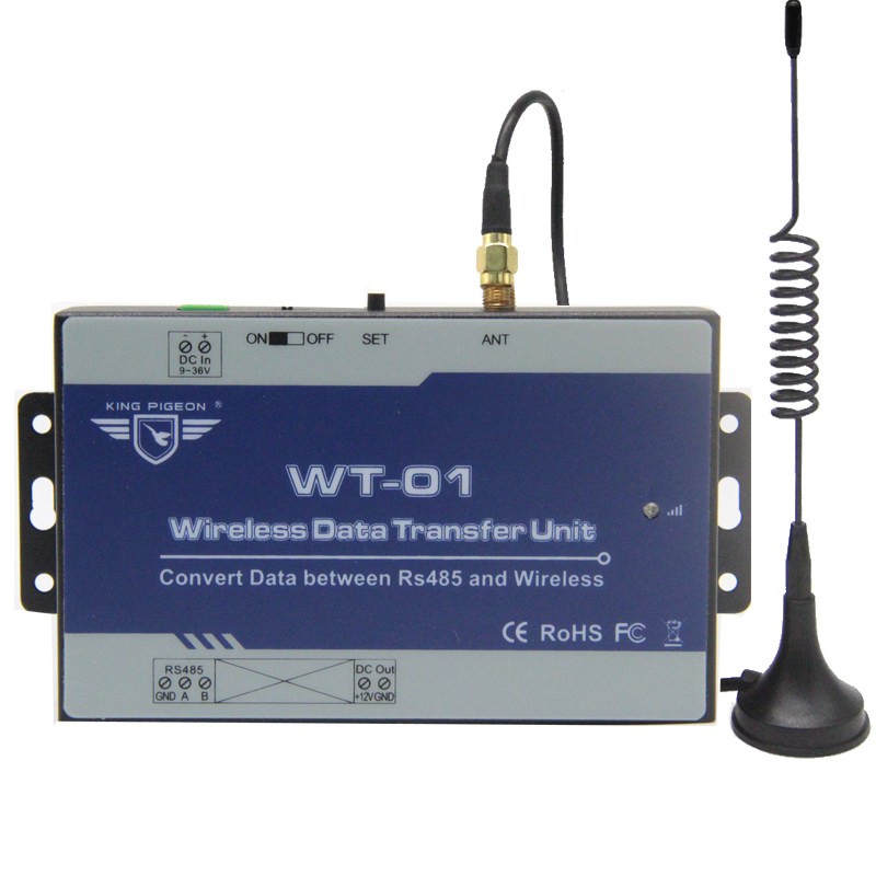 Wireless Data Transfer Unit Convert Date Between RS485 Port Wireless Repeater Modules WT-01 GSM RTU Can work with SMS Alarm S280Wireless Data Transfer Unit Convert Date Between RS485 Port Wireless Repeater Modules WT-01 GSM RTU Can work with SMS Alarm S280