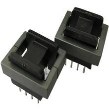 Balun bead EE25 8pin trasformatore a nucleo di Ferrite induttore di ferrite bead con 4 + 4pin bobina RF choke di ferrite MnZn PC40, 50 set/lotto
