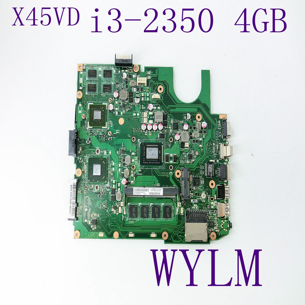 X45VD With i3 2350 CPU 4GB memory GT610M mainboard For ASUS X45V X45VD Laptop motherboard 60-NROMB1800-A04 fully tested 60 pe3vmb3000 a05 for asus et2400igts mainboard et2400igts desktop motherboard memory 2 channel with graphics fully tested