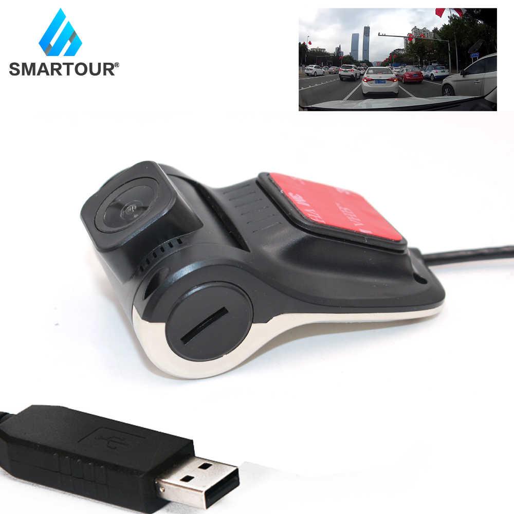 Smartour Автомобильный видеорегистратор Камера USB DVR разъем автомобиля HD 1280*720 P DVRs для Android OS системы Mini с ADAS