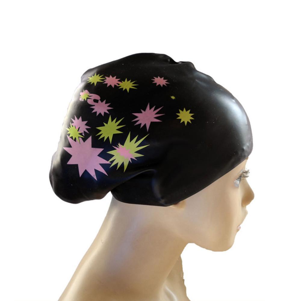 Swimming Caps Women Large Silicon Waterproof Adult Swim Pool Hat Long Hair Ear Protect Flexible Gorras Elastic Diving Equipment