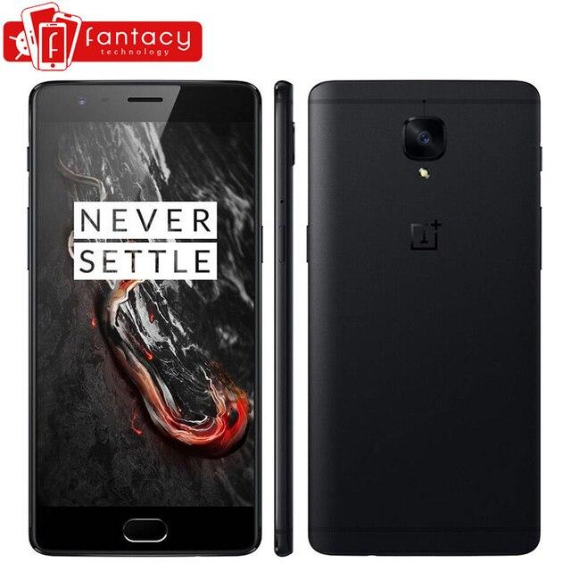 """Оригинальный oneplus 3 т 3 Т 6 ГБ 64 ГБ Snapdragon 821 4 ядра отпечатков пальцев ID FDD LTE 4 г 5.5 """"1920x1080 P Android 6.0 NFC мобильный телефон"""