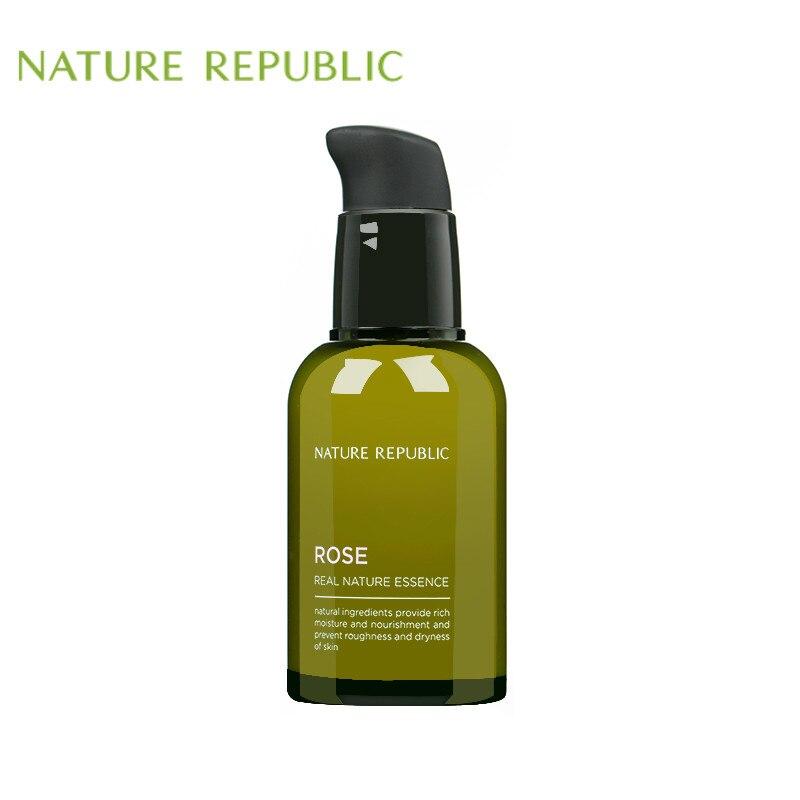 Natureza república 50ml real natureza rosa essência rosto soro hidratante clareamento iluminar a pele lisa
