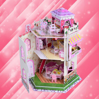 DIY 3D Puzzle Educational Toy Magic Paper Jigsaw Puzzle Handmade Craft House Model Toys For Children