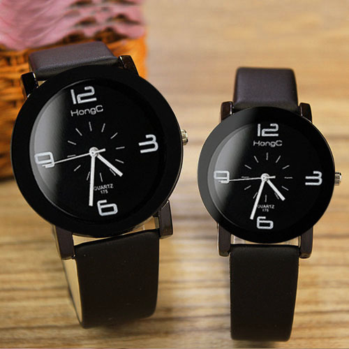 Yazole 2018 Couple Watches Top Brand Famous Women Men Lovers Watch Female Male Clock Quartz Watch for Lovers 1 Pair=2 Pieces