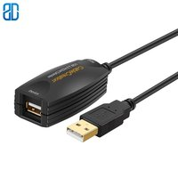 5M Active USB 2.0 Extension Cord USB Extender USB A Male to A Female Repeater Cable for Oculus Rift Printer Scanner Keyboard