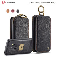 CaseMe For Samsung S9 Song Series Magnetic Hand Bag Case Multi Functional Stand Wallet Cover For