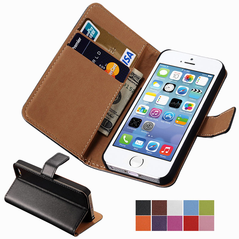 Wallet Flip Case For iPhone 5 / 5S / SE PU Leather Cover
