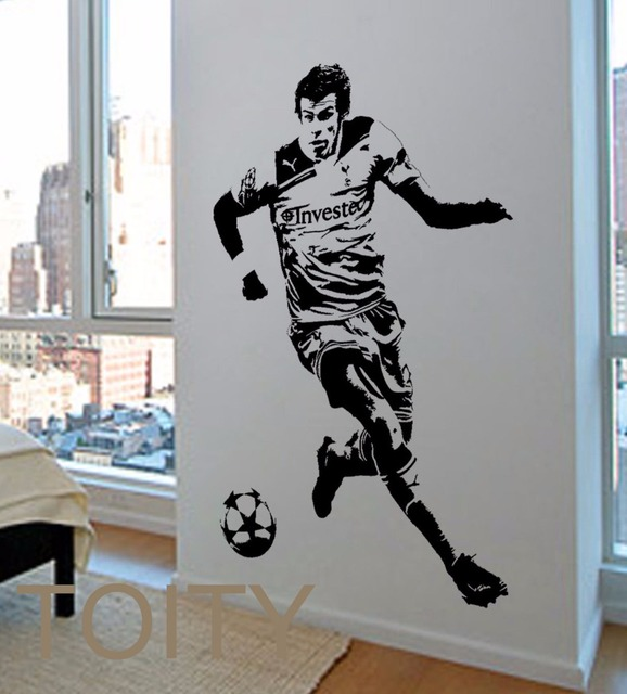 15 0 20 De Réduction Gareth Bale Mur Autocollant Gallois Football Lecteur Vinyle Sticker Art Sport Mural Dortoir Adolescent Garçon Chambre Club