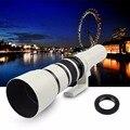 500mm f/6.3 Branco Lente Telefoto Prime Fixo + T2 Adaptador de Montagem para canon nikon sony nex pentax m4/3 câmera slr a6300 a7sii A7R
