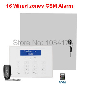 Engineering alarm 16 wired zones hard wire alarm system gsm wired ...