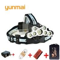 High Power Led Headlamp 25000lumen 5 7 9 Leds Headlight Cree XML T6 Q5 USB 18650
