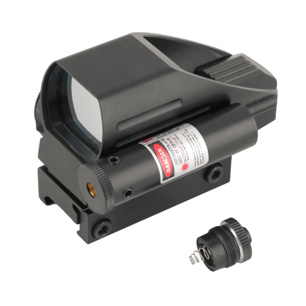 Prix pour 2017 chaude Tactique Holographique Reflex Red/Green Dot Scope 4 Réticule Rouge Laser Sight pour 22mm livraison gratuite