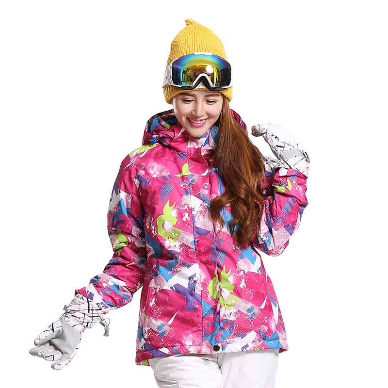 Фотография Skiing And Snowboarding Jackets Clothes Brand New Women Ski Jacket Snowboarding Colorful Warm Waterproof Windproof Breathable