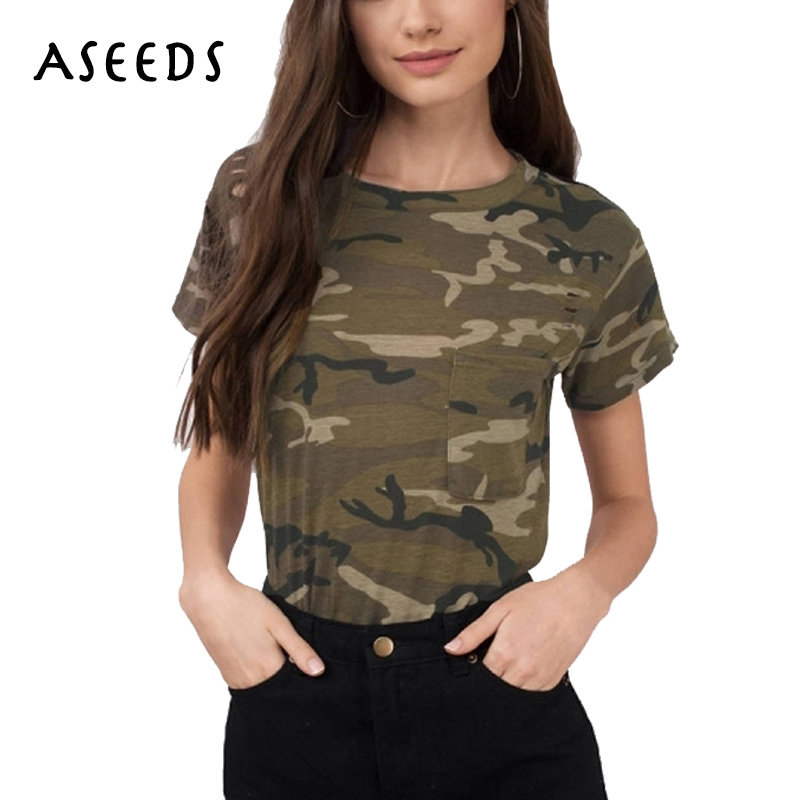fashion camouflage t shirt women o neck short sleeve t shirts military summer tops casual print. Black Bedroom Furniture Sets. Home Design Ideas
