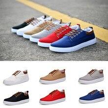 CHAMSGEND/Новинка; сезон весна; Мужская однотонная обувь в Корейском стиле; Модная студенческая обувь; Повседневная обувь; Низкие кроссовки с завязками