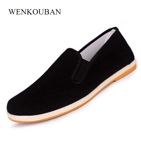 Men Canvas Shoes Loafers Man Sneakers Casual Shoes Black Flat Slip On Summer Canvas Shoes Mocassin Homme Espadrilles Size 35-45 Lahore