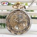 Стимпанк механические часы мужские золотые и серебряные подарки настольные часы B046