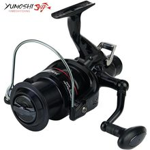 New build Yumoshi KM50/60 black 11BB Brake Fishing Reel G-Ratio 5.2:1 fly fishing reel Carp Feeder Spinning Fishing Reels