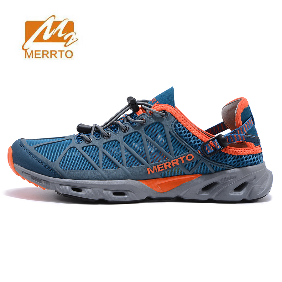 MERRTO Men's Summer Aqua Water Shoes Outdoor Trekking Hiking Sandals Shoes For Man Climbing Mountain Sandals Shoes Senderismo merrto mens summer sports outdoor trekking hiking sneakers shoes for men sport climbing mountain shoes man senderismo