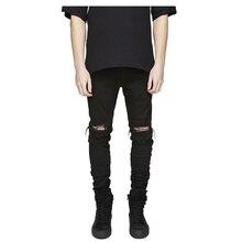 Famous Brand Designer Slim Fit Ripped Jeans Men Hi-Street Mens Distressed Denim Joggers Knee Holes Washed Destroyed Jeans CL0107