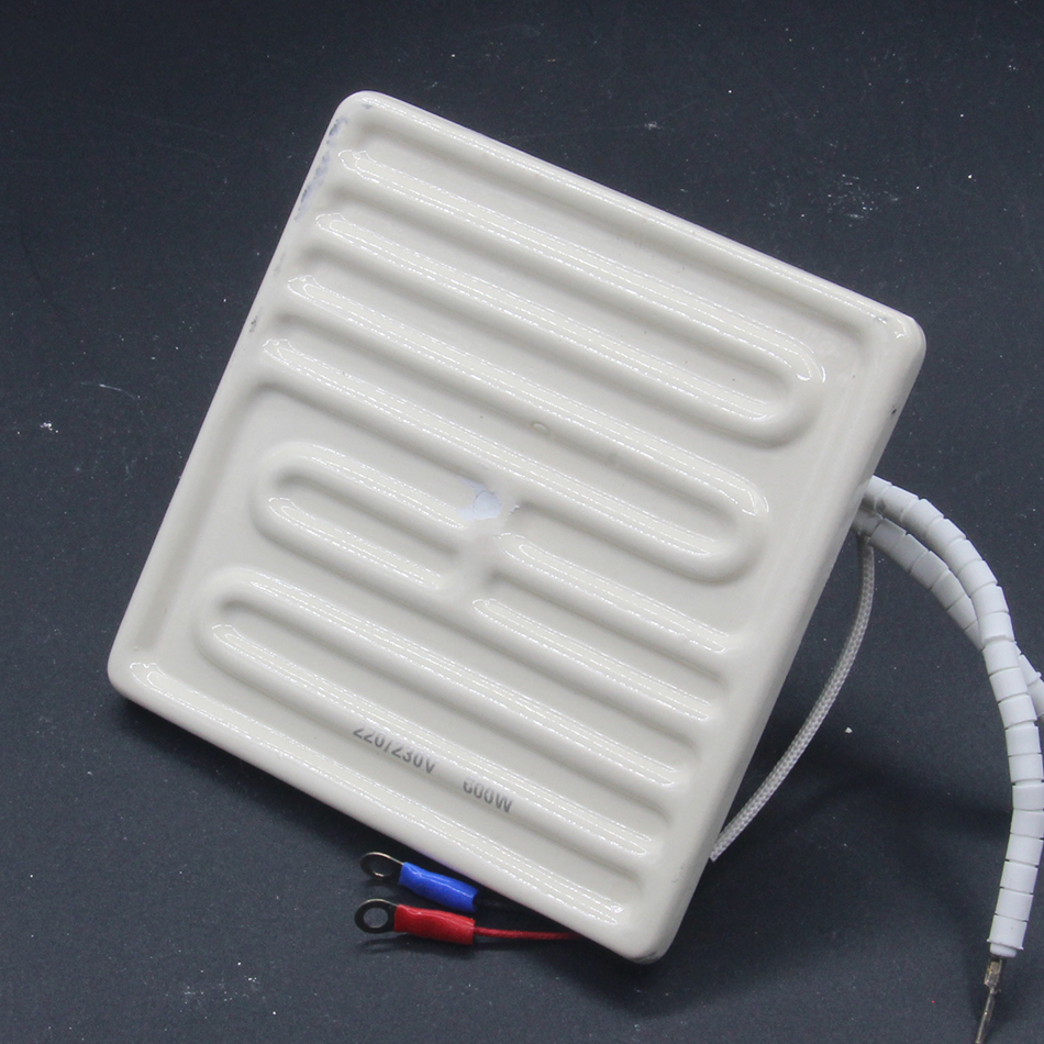 IR Infrared Top Heater Ceramic Heating Hot Plate 120*120MM <font><b>220V</b></font> 600W For Soldering <font><b>BGA</b></font> <font><b>Rework</b></font> <font><b>Station</b></font> Parts Gordak 863 image