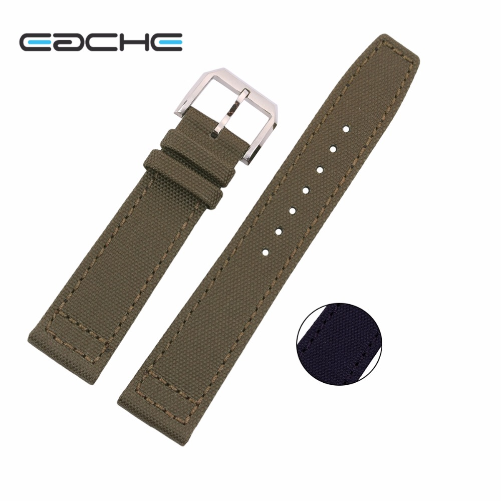 New Arrival  Canvas  Watchband   Inner Layer Made Of  Genuine Leather Nylon  Watchband Strap For Men Or Women 20mm 22mm top fashion new arrival soft durable genuine cowhide leather men women watch strap 18mm 20mm 22mm rich color watchband
