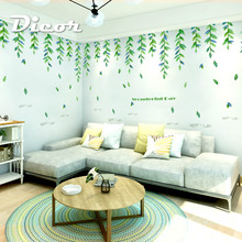 DICOR DIY Forest Style Beautiful Leaves Creative For Home Decor Wall Sticker Removable Livingroom Adesivo de parede QT780