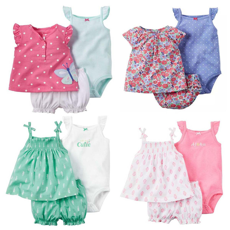 Summer Bebes Baby Girl Clothes Condole Belt Set Dresses Kids Newborn Girl Skirt Casaco Infant Clothing