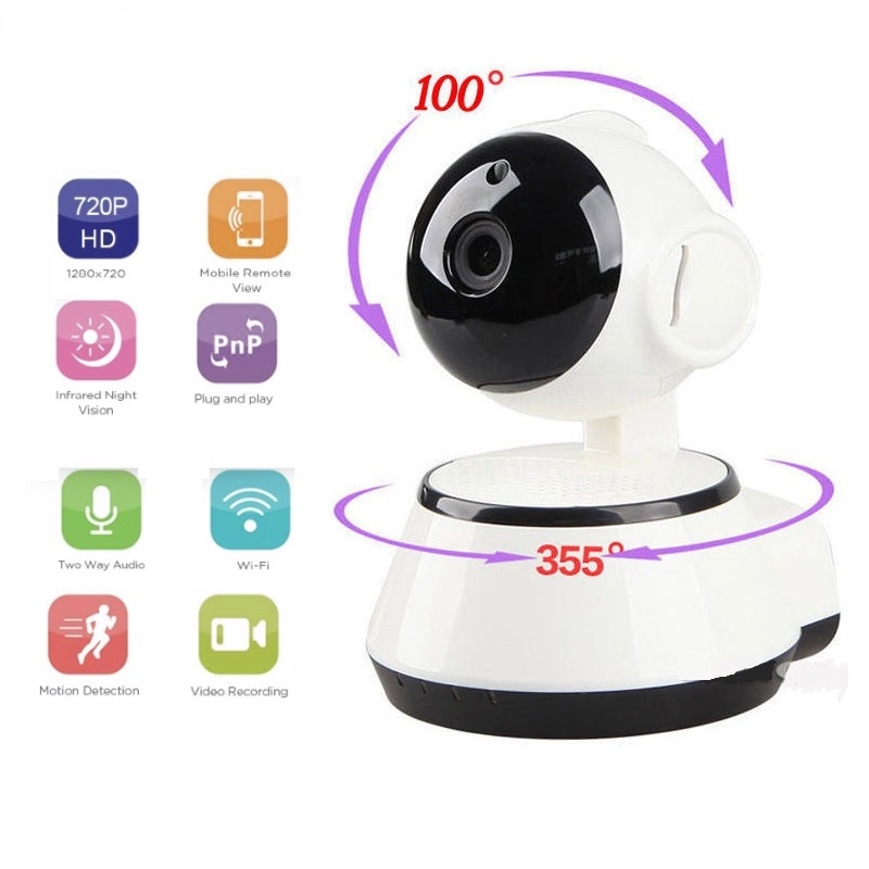 Wireless Camera 720P HD Intelligent Network WiFi Remote Control Monitor Surveillance Camera Home Security Night Vision