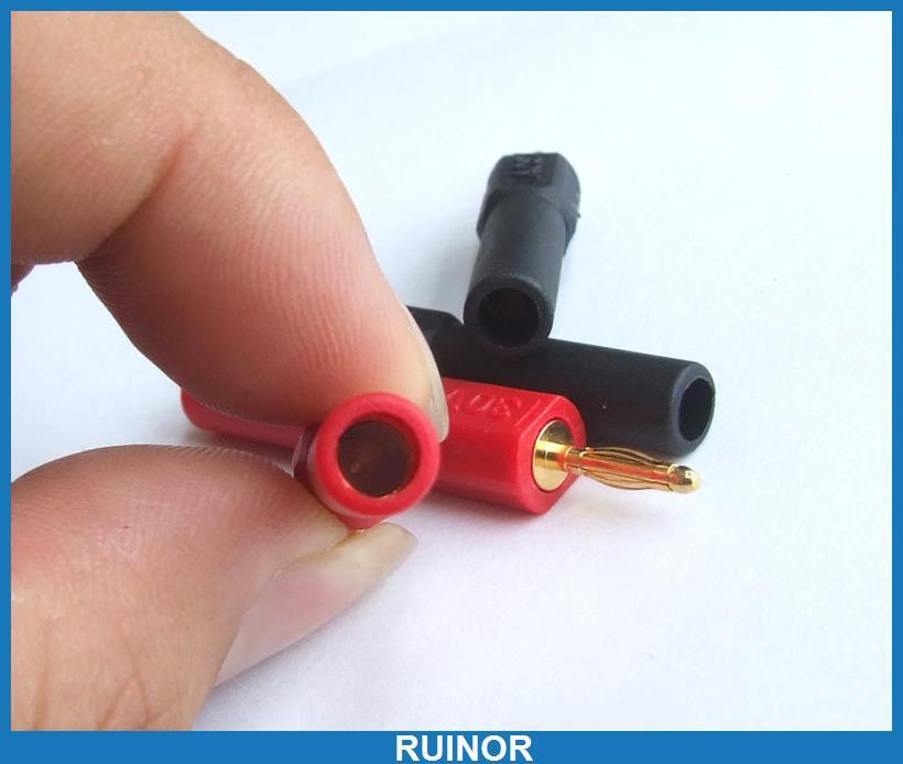 10 PCS Gold 2mm Male to 4mm Banana Jack Female Banana Plug 30A Probes Adapters