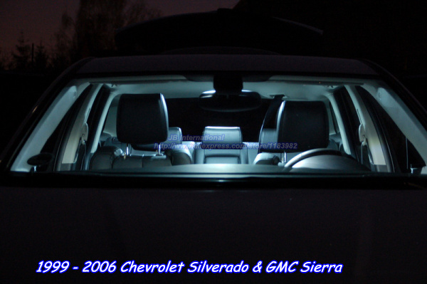 12pcs White 7500k Car Led Lights For Chevrolet Silverado Gmc Sierra 1999 2006 Interior Dome Map