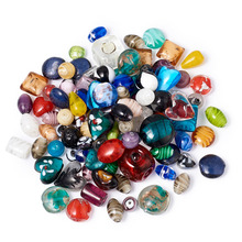 pandahall Mixed Color Handmade Lampwork Glass Beads for jewelry making DIY Crafts Charm Bracelets Accessories Wholesale 1box mixed style round glass pearl beads mixed color crafts jewelry diy maker supplies hot sale