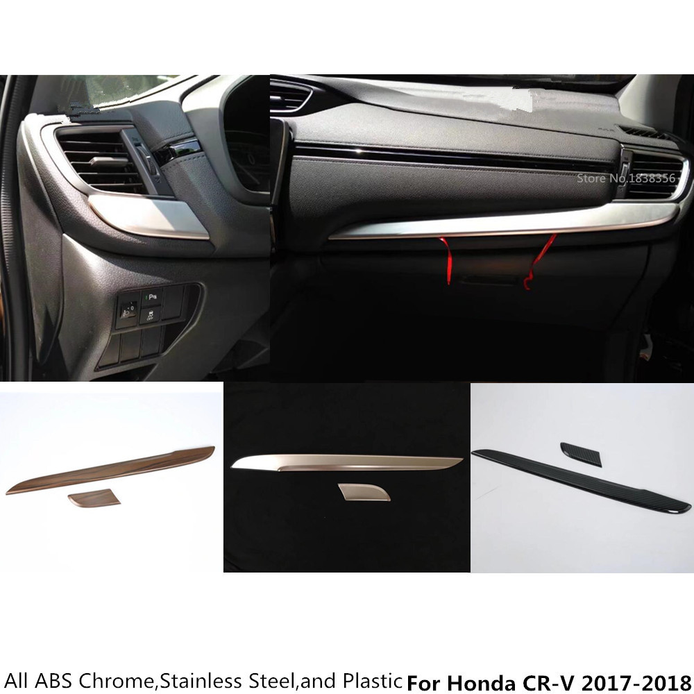 For Honda CIVIC 2016-2018 Brushed Steel Console Dashboard panel Cover Trim *3