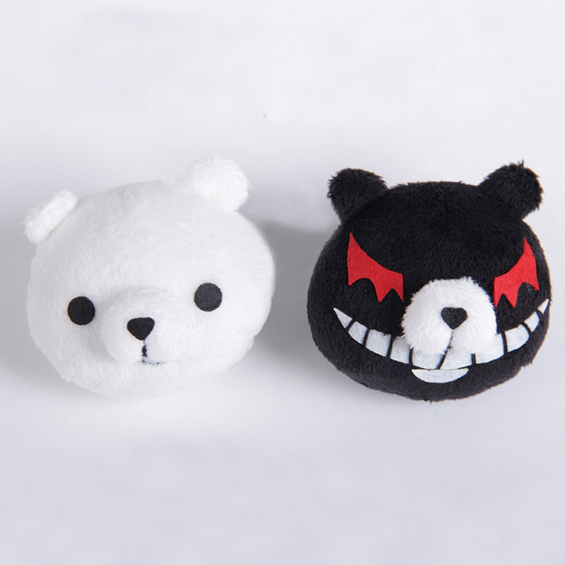 Danganronpa Dangan-Ronpa Junko Enoshima Wigs Ombre Mixed Colors Cosplay  Costume Wig+ Black and White Bear Hairpins