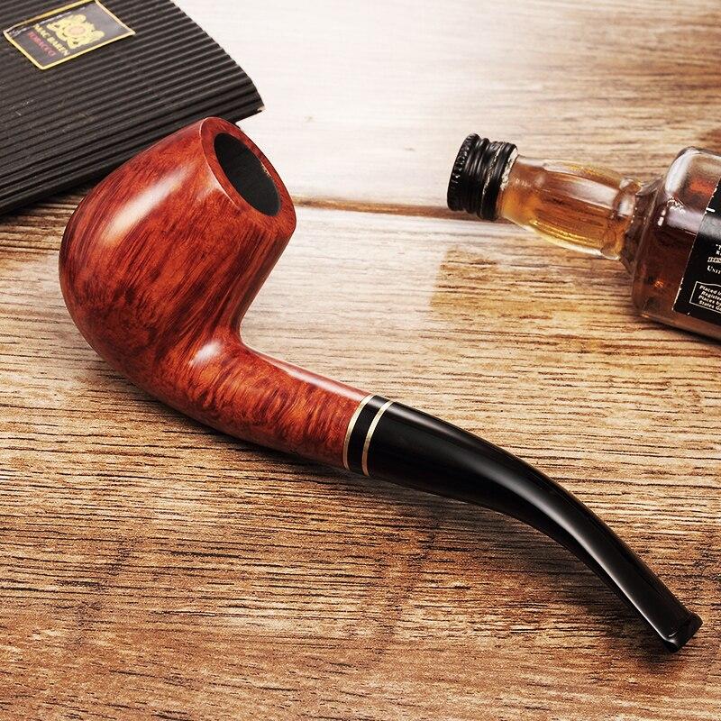 2019 새로운 고 등급 ADOUS Classictype briarTobacco 파이프 담배 파이프 금속 인레이 AS508