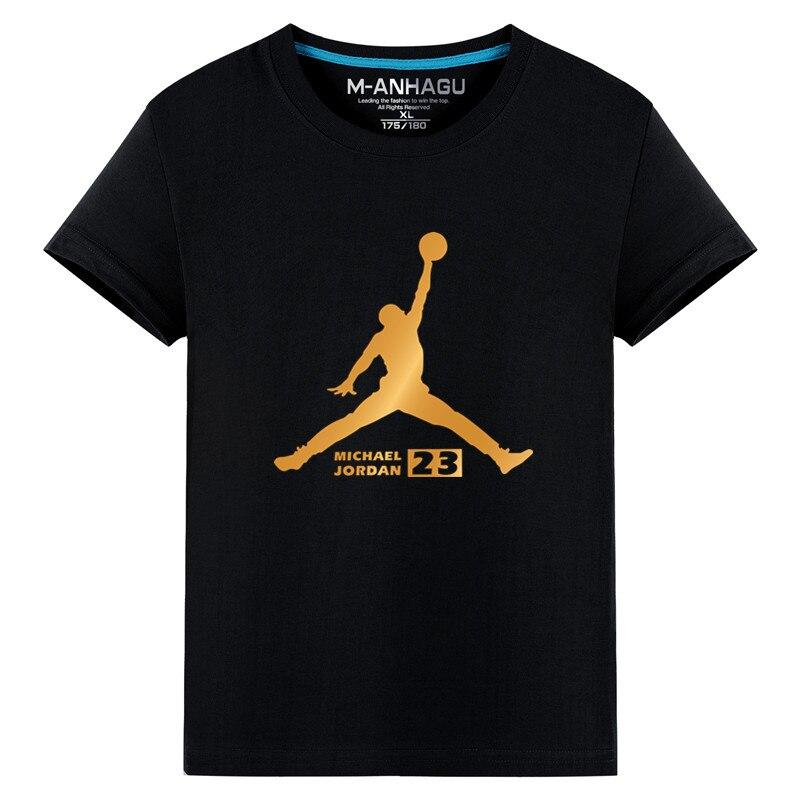Newest 2019 Summer Men T-Shirt Fashion Jordan 23 Brand Logo Print Cotton T Shirt Men Trend Casual Short Sleeve Tshirt Tops M-4XL
