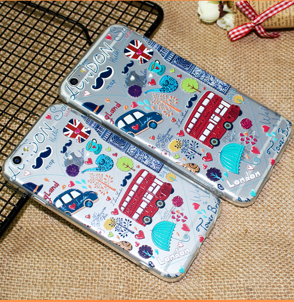 !ACCEZZ TPU Soft Cartoon 3D Protective Back Cover For Apple iphone 66s78 Plus Case Creative Patterned Phone Shell Funda Coque (5)