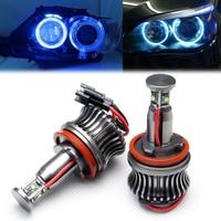 2x 20W H8 Blue LED Marker Angel Eyes Bulb 7000K for BMW E90 E92 X5 E71 X6 E82 M3