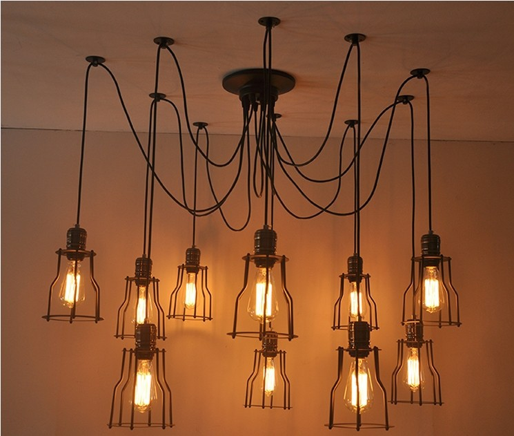 warehouse style lighting. Vintage Chandeliers Lamp Metal 10 Pendant Lampshade Warehouse Garage Style Lighting Light Fixture Edison Bulb St64-in Lights From