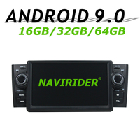 High configuration Octa Core Android 9.0 Car GPS Multimedia For FIAT LINEA Punto Deckless Car Radio bluetooth 64GB large memory