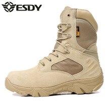 ESDY Настоящее Бросился Лето 2017 г. Мужская пустынный камуфляж военной Армейские ботинки мужские армейском Botas militares Мужская обувь