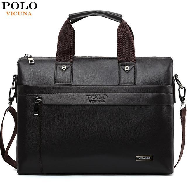VICUNA POLO, лидер продаж, модная простая мужская деловая сумка-портфель в горошек от известного бренда, кожаная сумка для ноутбука, мужская повс...