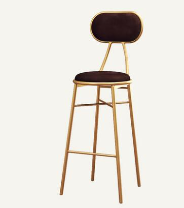 Nordic Light Luxury Bar Chair Light Luxury Simple Web Celebrity Front Desk Restaurant Lounge Chair Back Bar Chair High Stool