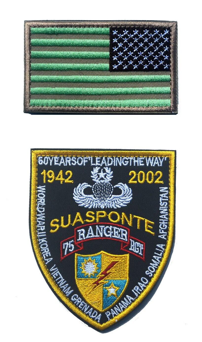 En gros USA militaire Patch tactique fonctionne drapeau Patch ensemble brodé fil drapeau américain brodé Patch pour vêtements