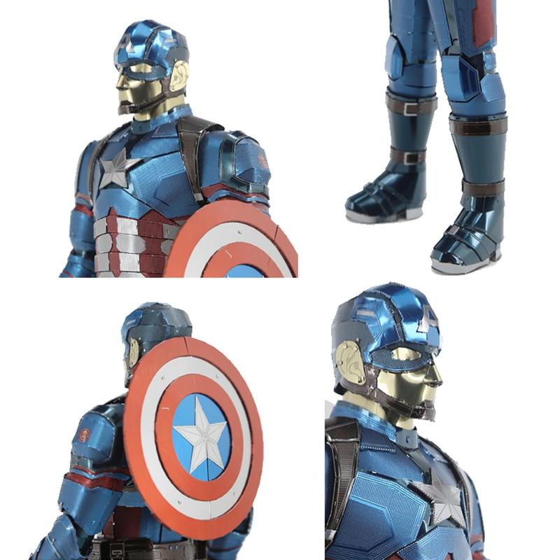 Puzzle 3D en métal pour Captain America/iron Man modèle bricolage Figure Statue Collectional éducatif Parent-enfant interactif enfants jouets - 5